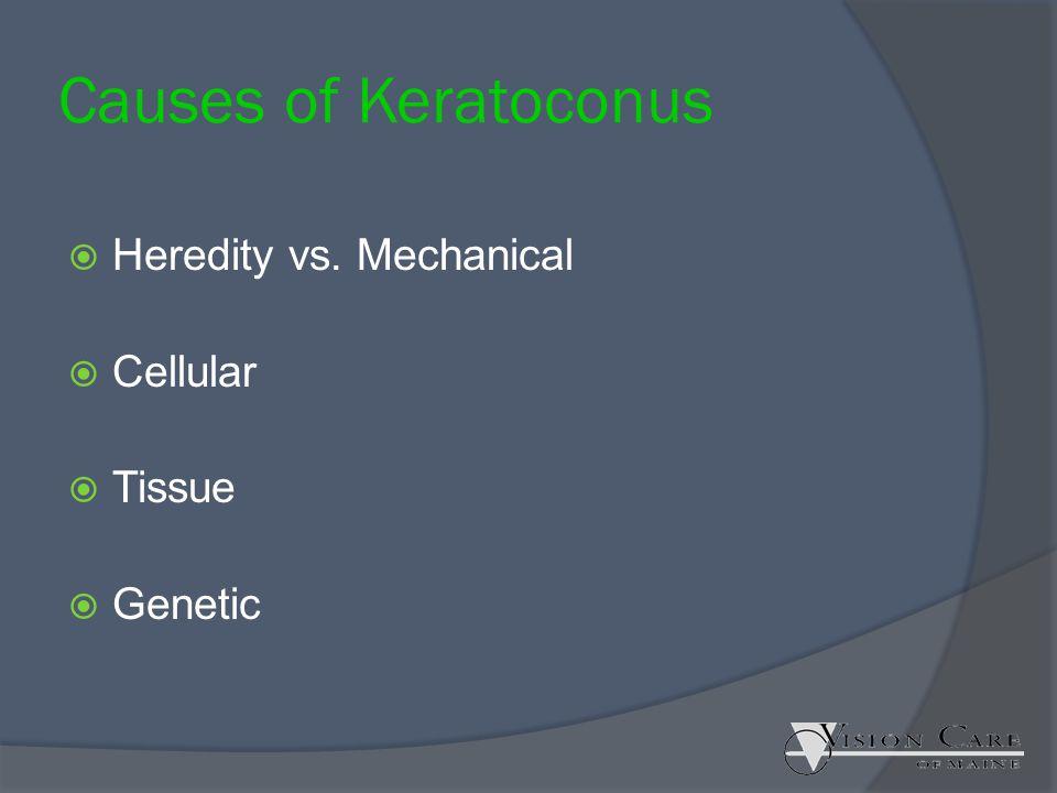Causes of Keratoconus Heredity vs. Mechanical Cellular Tissue Genetic
