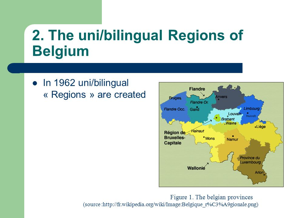 2. The uni/bilingual Regions of Belgium