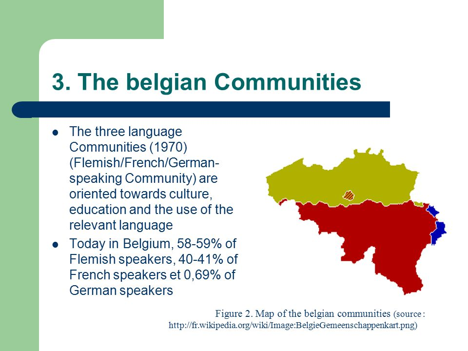 3. The belgian Communities