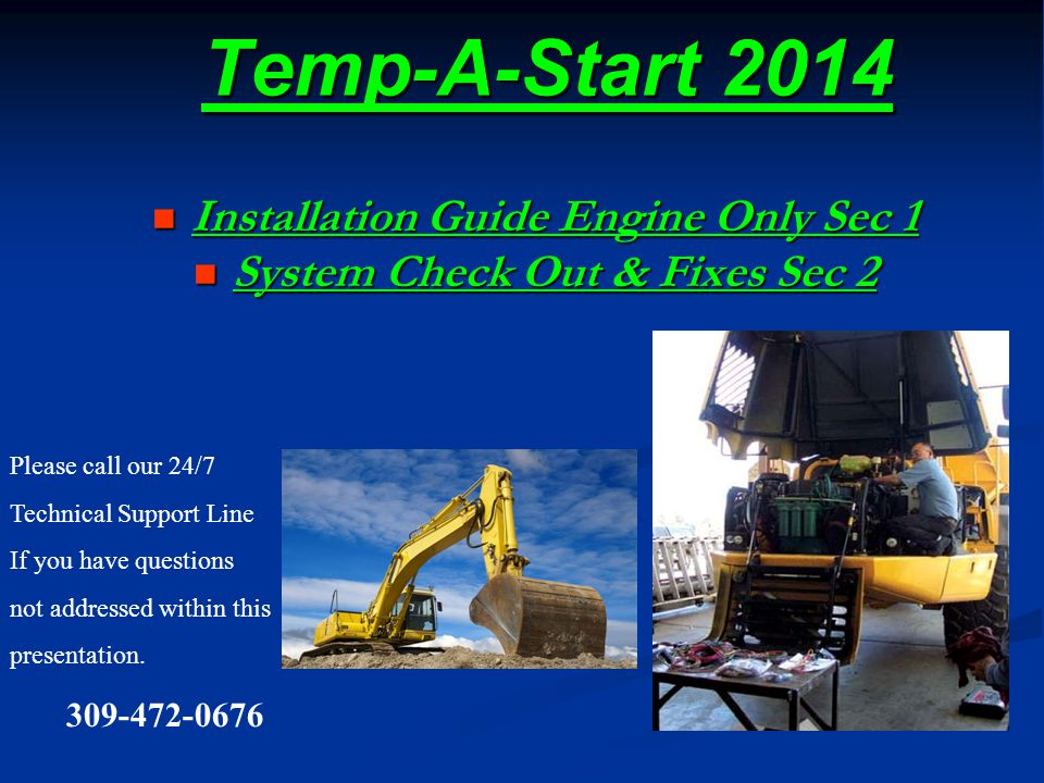 Installation Guide Engine Only Sec 1 System Check Out & Fixes Sec 2