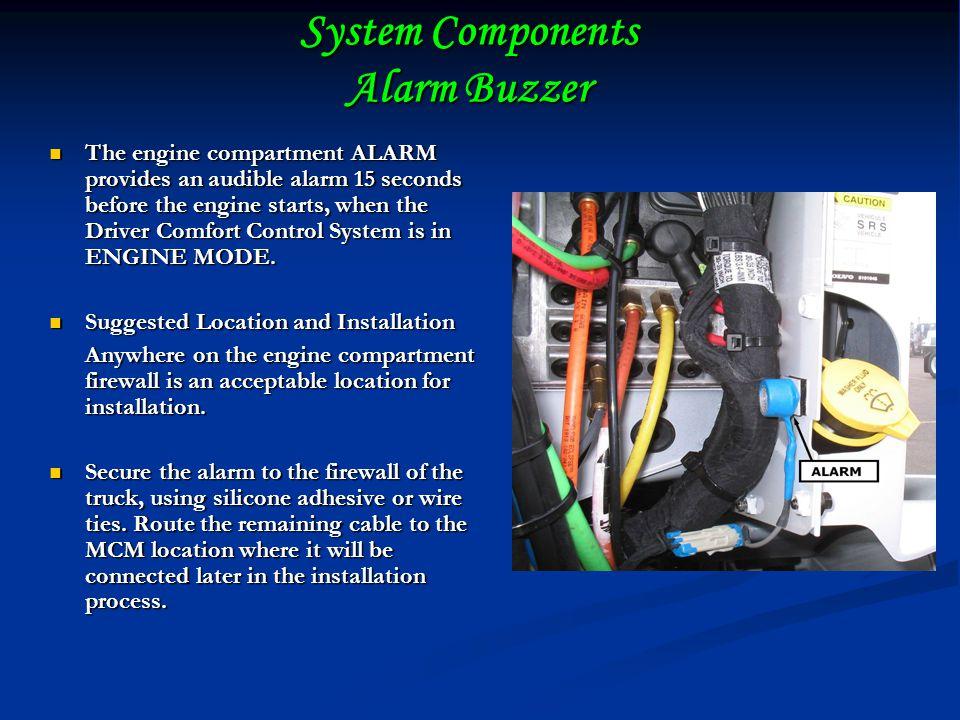 System Components Alarm Buzzer