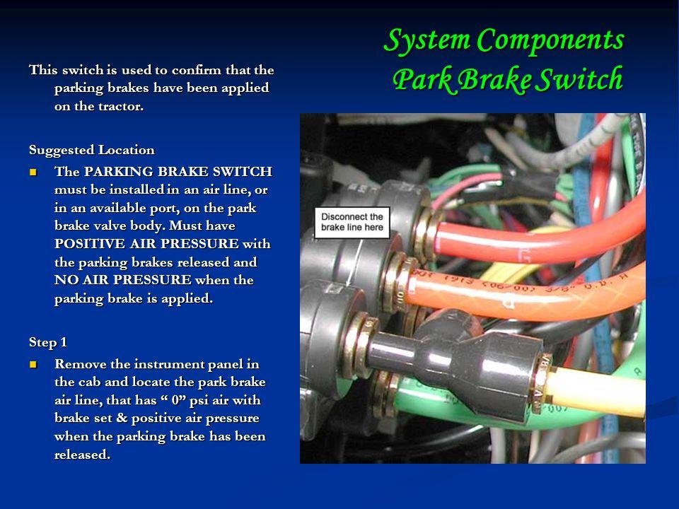 System Components Park Brake Switch