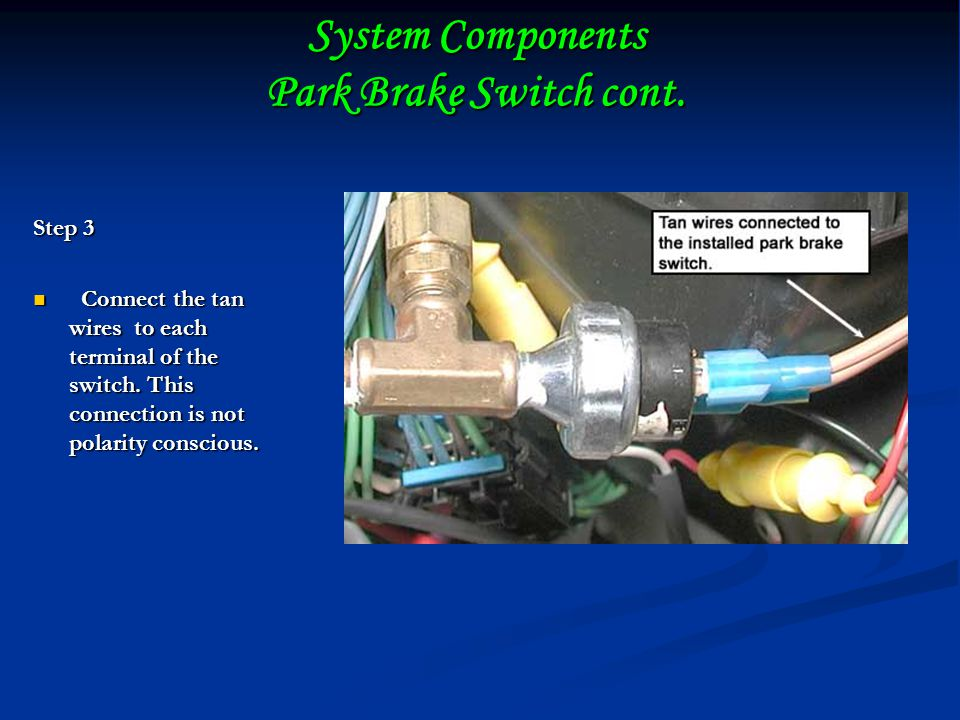 System Components Park Brake Switch cont.