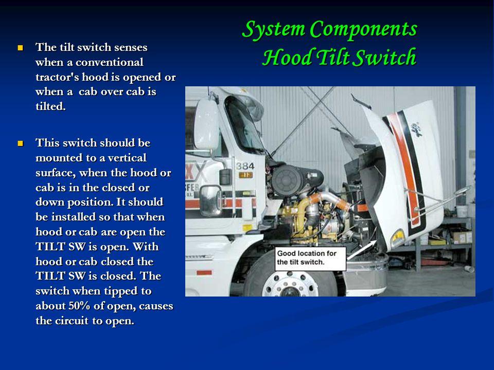 System Components Hood Tilt Switch