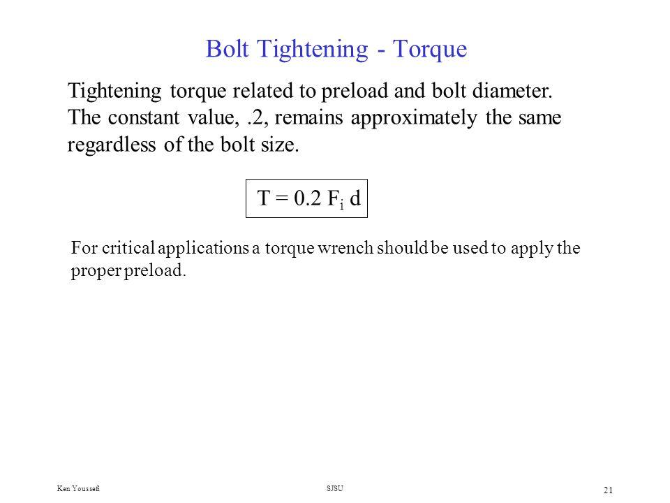 Bolt Tightening - Torque