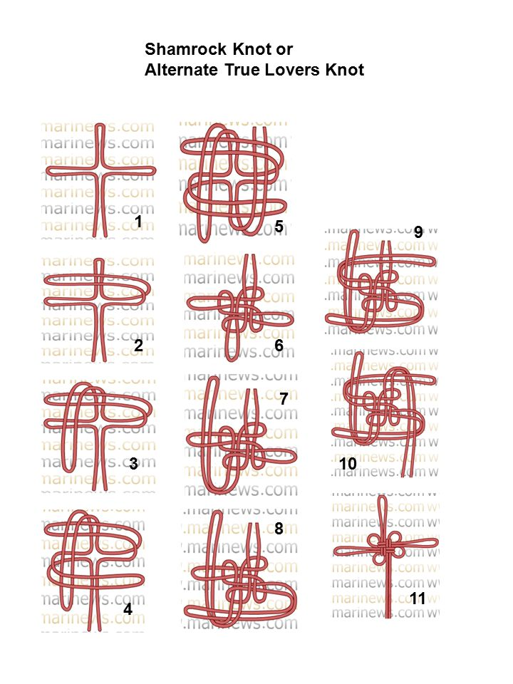 Shamrock Knot or Alternate True Lovers Knot 1 5 9 2 6 7 3 10 8 11 4