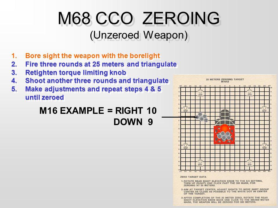 M68 CCO ZEROING (Unzeroed Weapon)