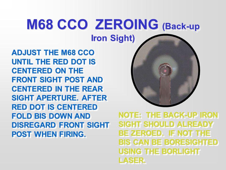 M68 CCO ZEROING (Back-up Iron Sight)