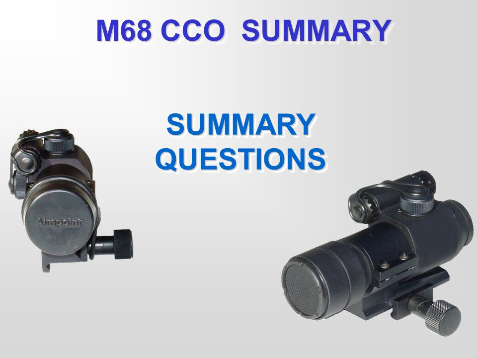 M68 CCO SUMMARY SUMMARY QUESTIONS Review/ Summarize Lesson: