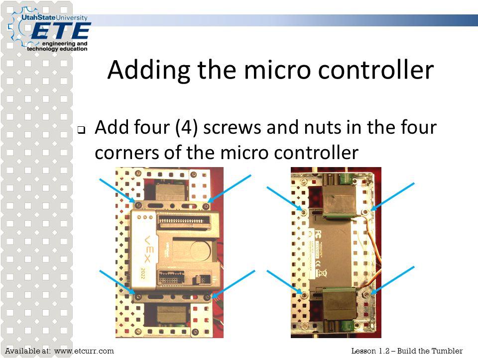 Adding the micro controller
