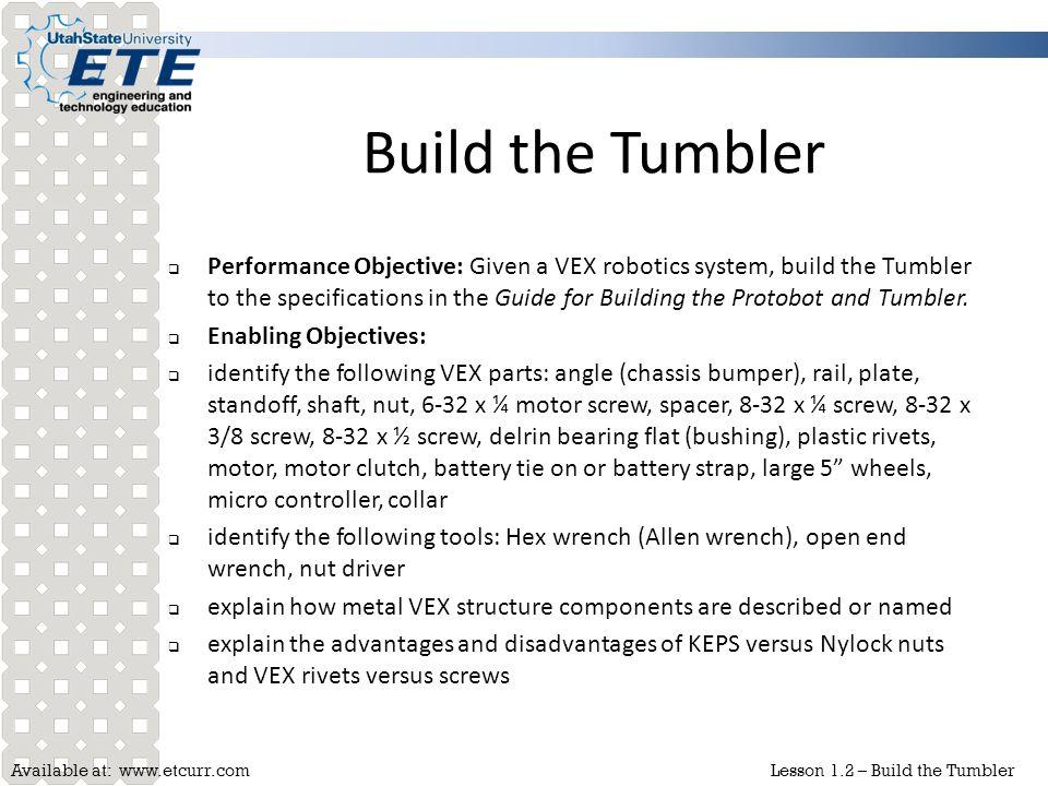 Build the Tumbler