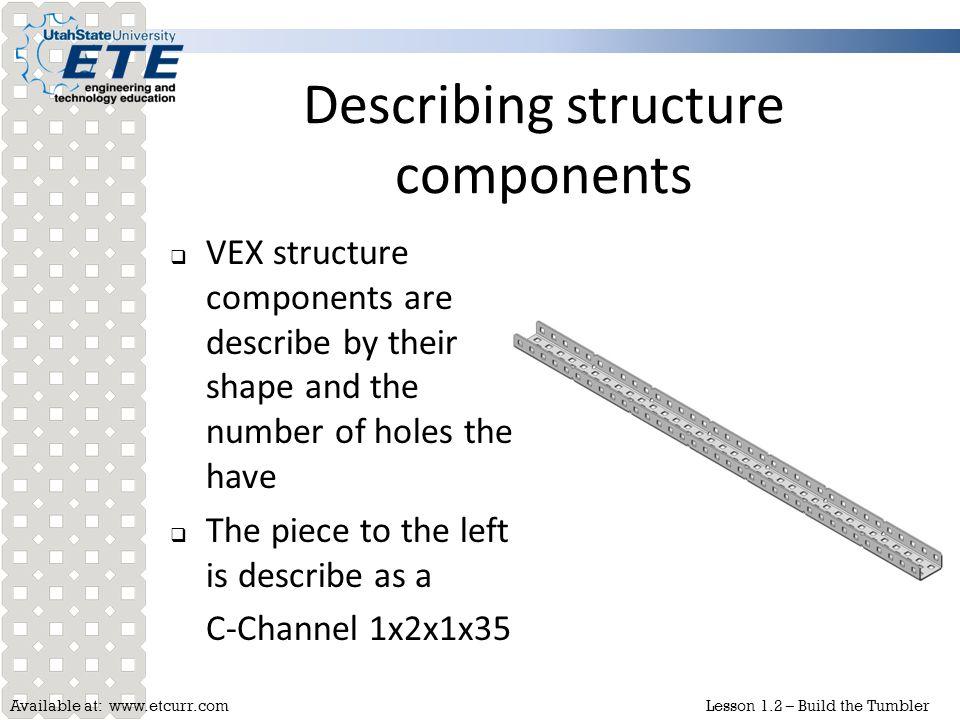 Describing structure components