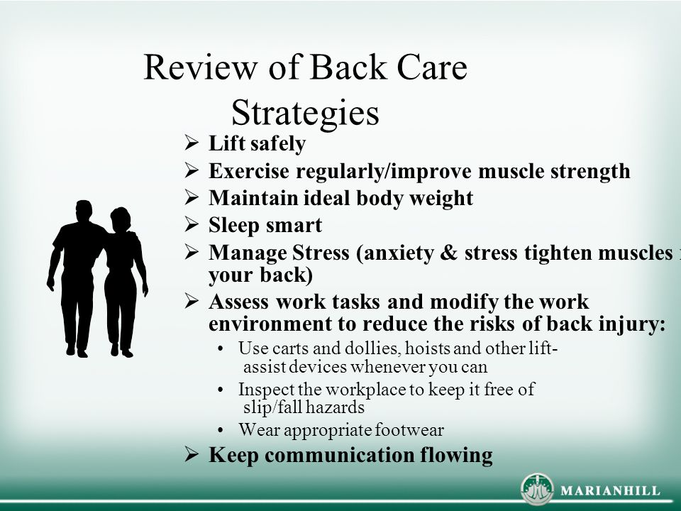 Review of Back Care Strategies