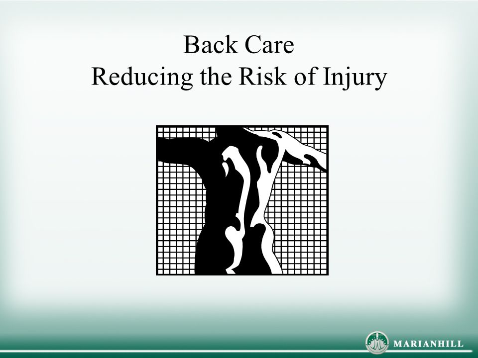 Back Care Reducing the Risk of Injury