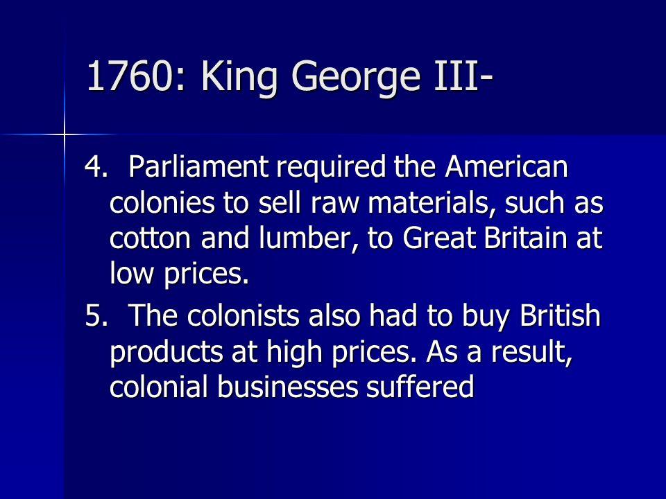 1760: King George III-