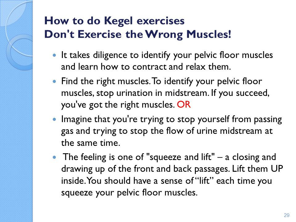 How to do Kegel exercises Don t Exercise the Wrong Muscles!