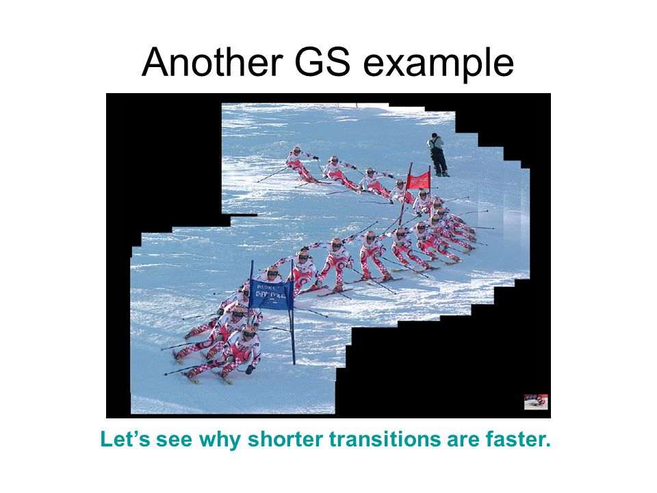 Another GS example Let's see why shorter transitions are faster.