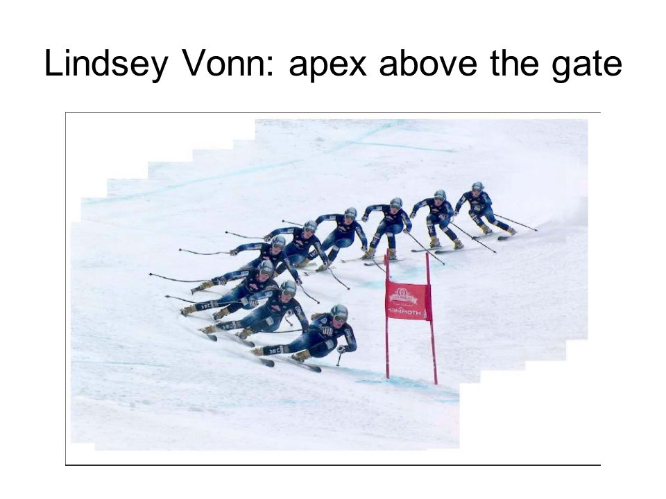 Lindsey Vonn: apex above the gate
