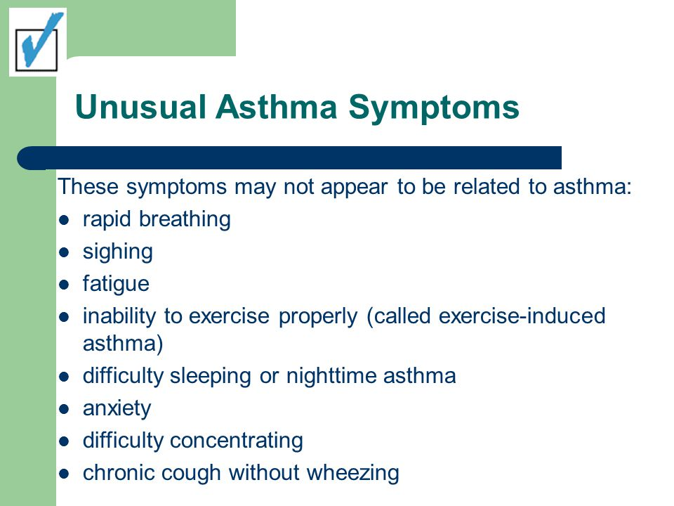 Unusual Asthma Symptoms