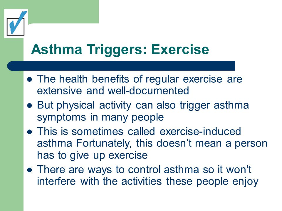 Asthma Triggers: Exercise