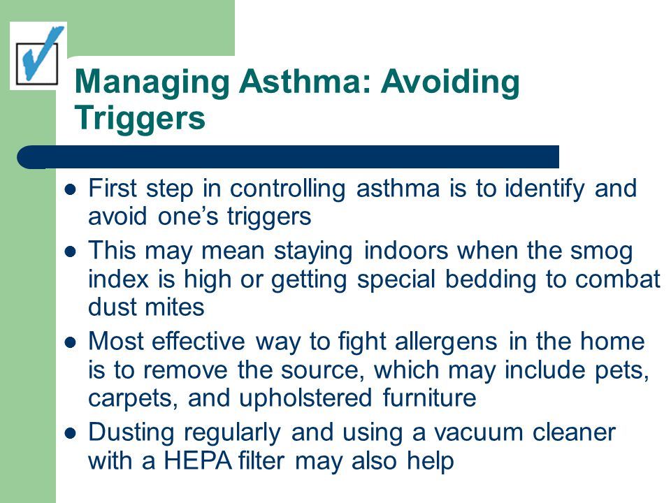 Managing Asthma: Avoiding Triggers
