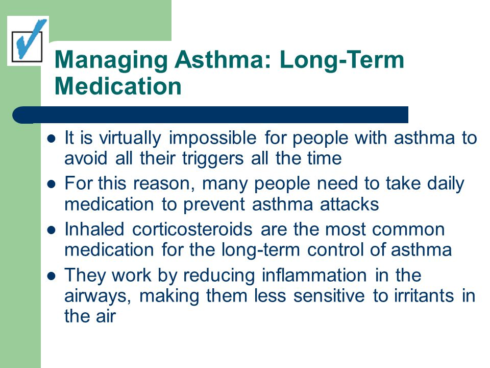 Managing Asthma: Long-Term Medication