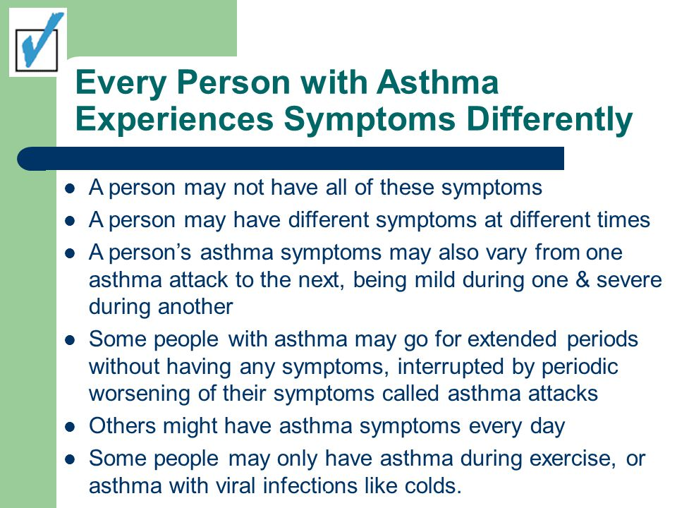 Every Person with Asthma Experiences Symptoms Differently