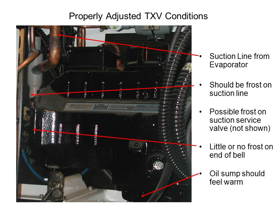 Properly Adjusted TXV Conditions