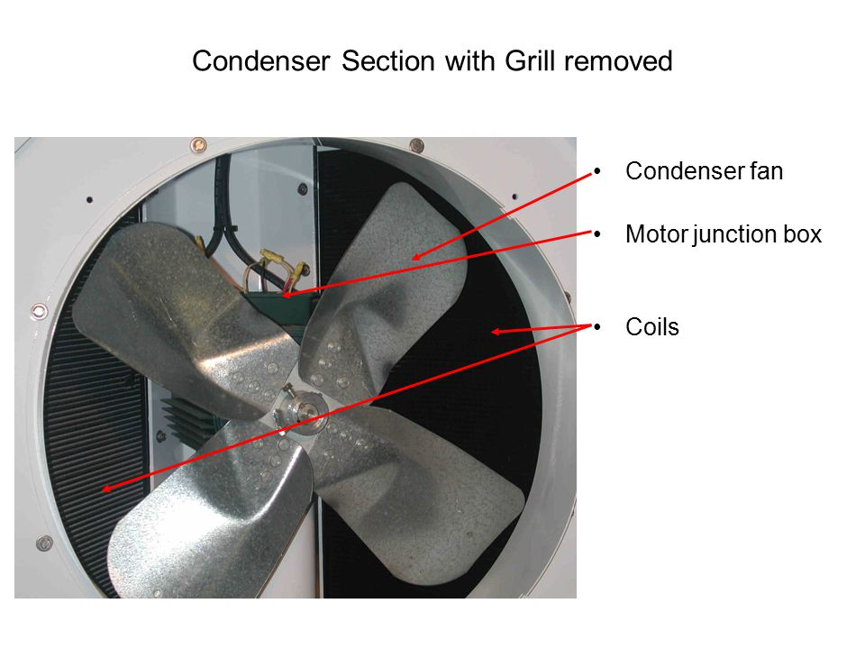Condenser Section with Grill removed