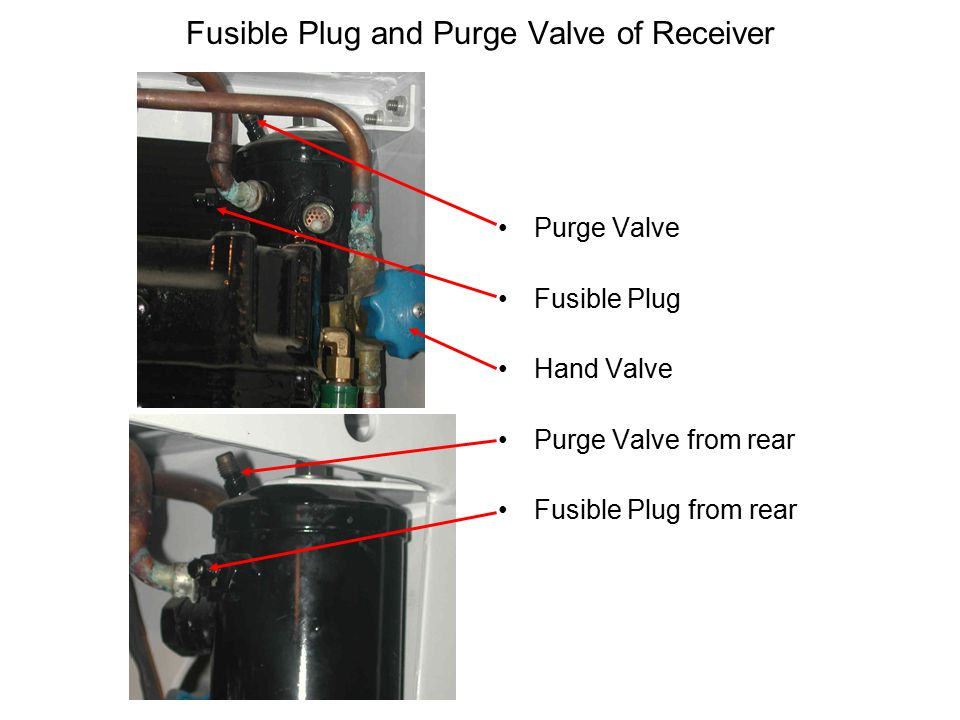Fusible Plug and Purge Valve of Receiver