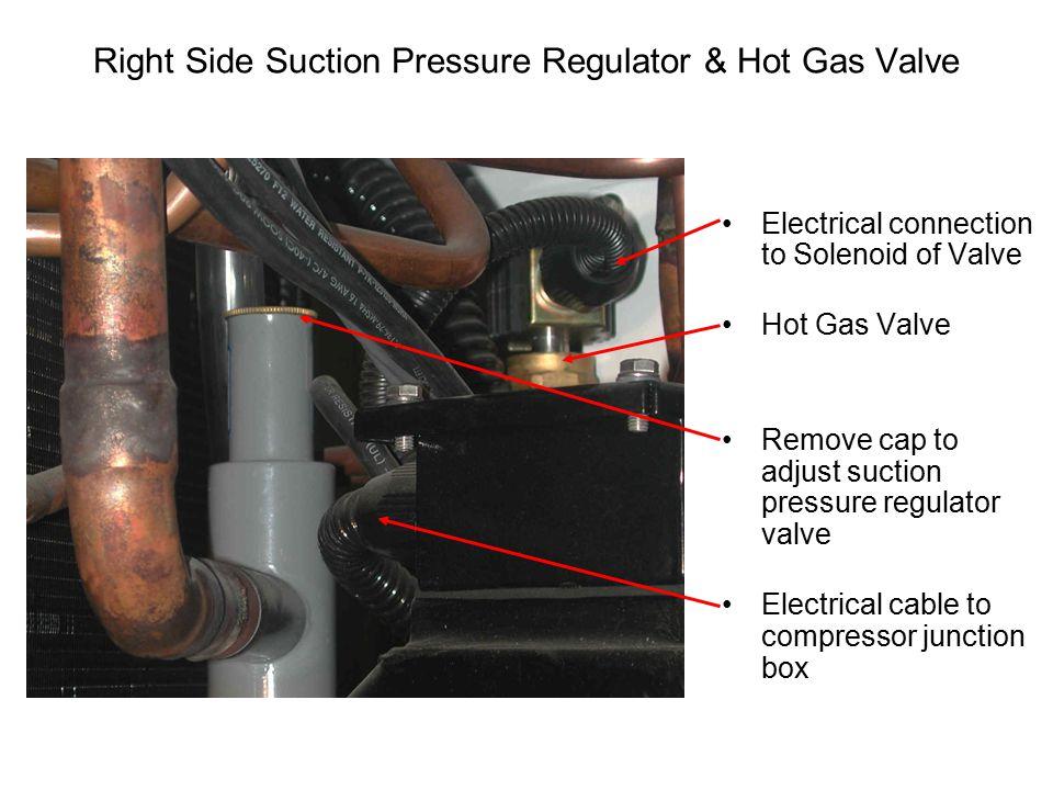 Right Side Suction Pressure Regulator & Hot Gas Valve