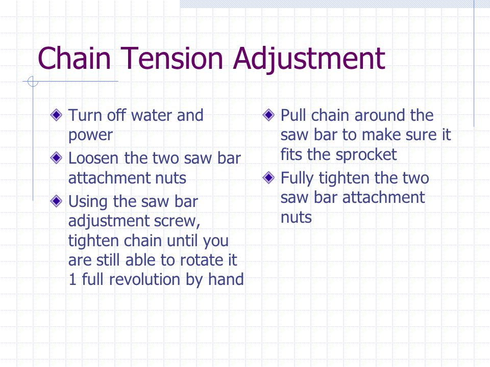 Chain Tension Adjustment
