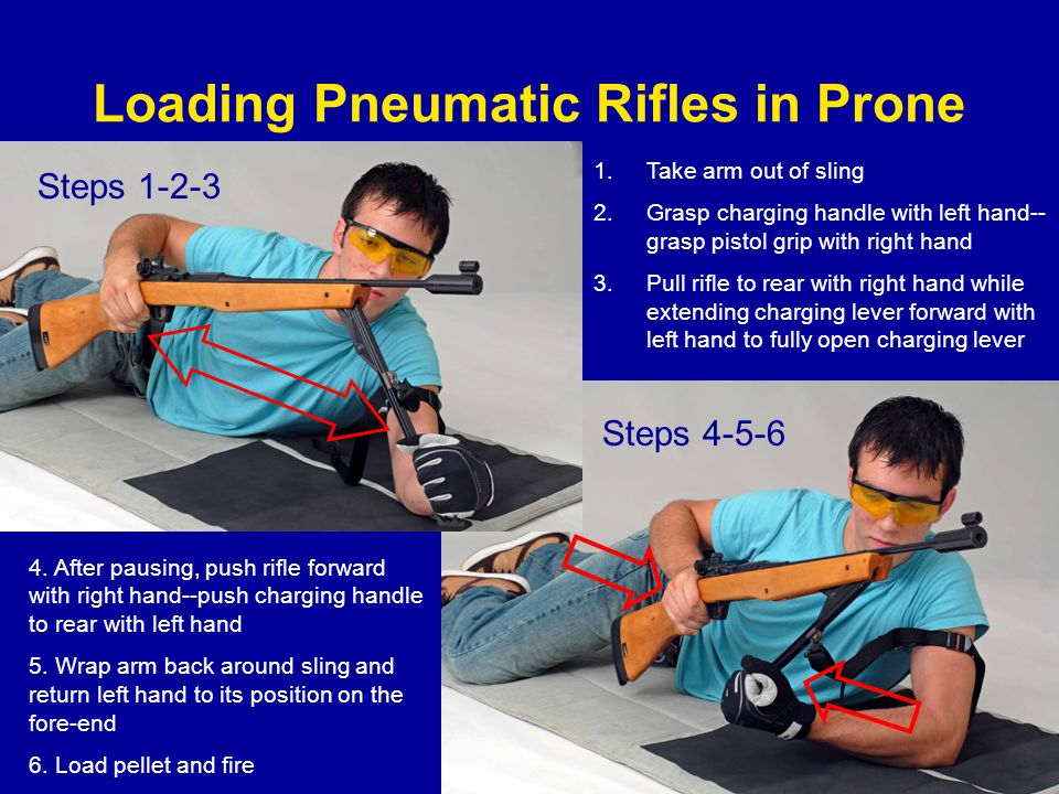 Loading Pneumatic Rifles in Prone