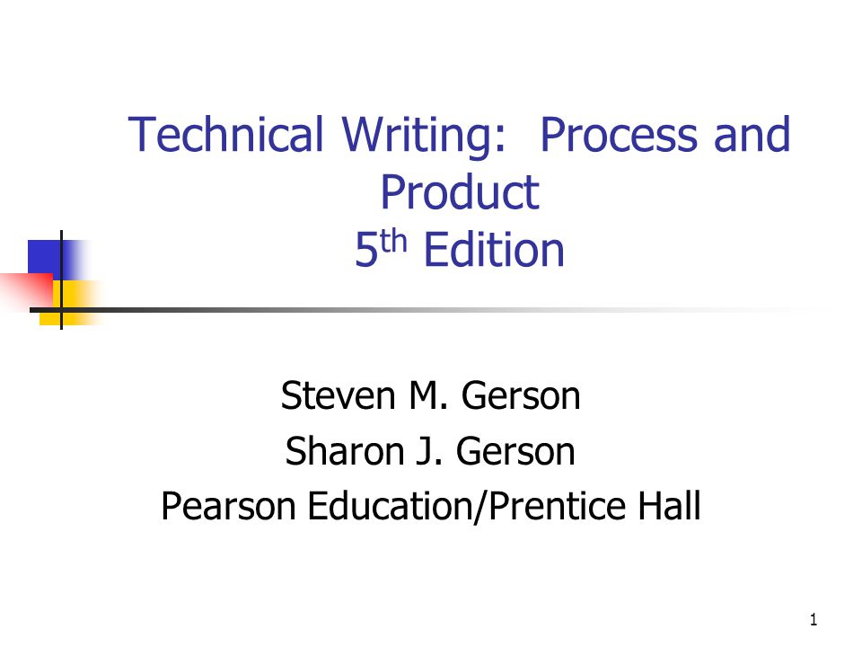 the technical writing process