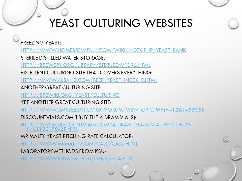 Yeast Culturing Websites