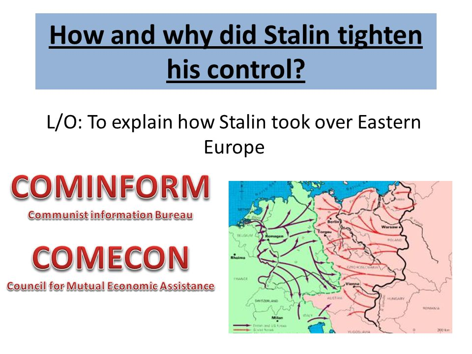 How and why did Stalin tighten his control