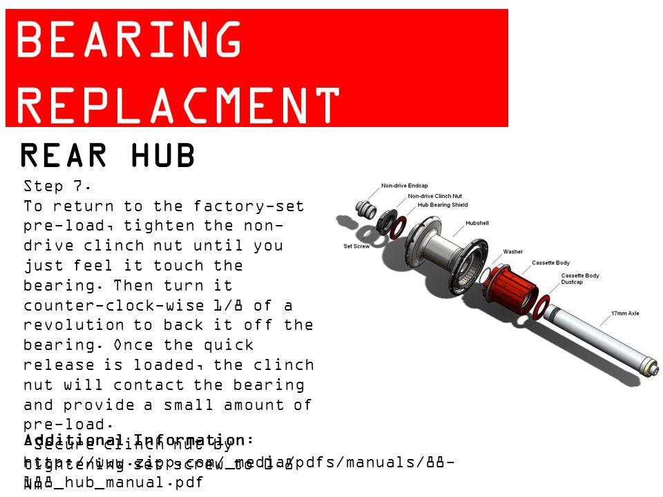 ZIPP 404 BEARING REPLACMENT GUIDE REAR HUB Step 7.