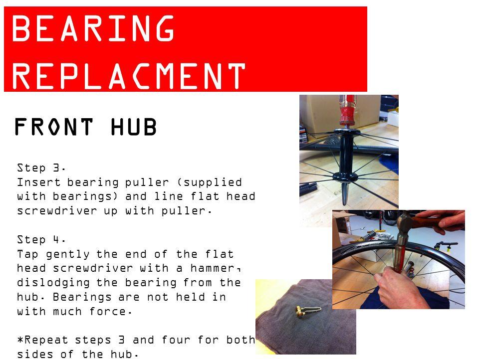 ZIPP 404 BEARING REPLACMENT GUIDE FRONT HUB Step 3.