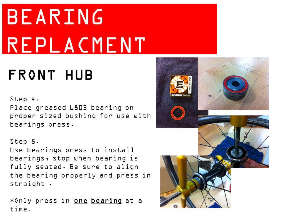 ZIPP 404 BEARING REPLACMENT GUIDE FRONT HUB Step 4.