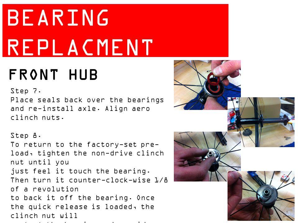 ZIPP 404 BEARING REPLACMENT GUIDE FRONT HUB Step 7.