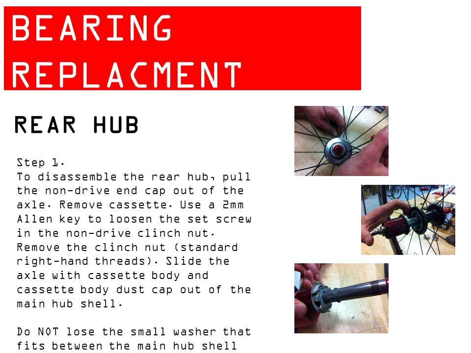 ZIPP 404 BEARING REPLACMENT GUIDE REAR HUB Step 1.