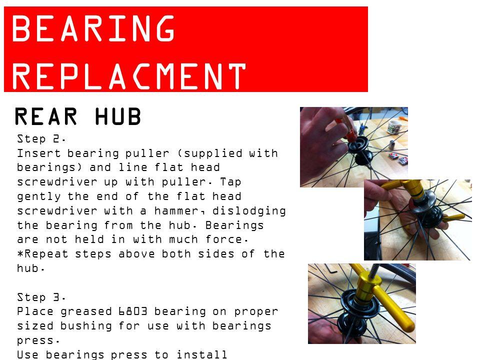 ZIPP 404 BEARING REPLACMENT GUIDE REAR HUB Step 2.