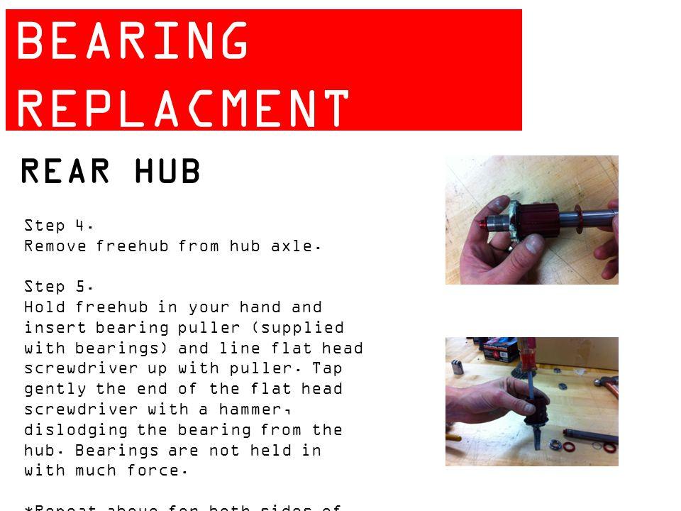ZIPP 404 BEARING REPLACMENT GUIDE REAR HUB Step 4.
