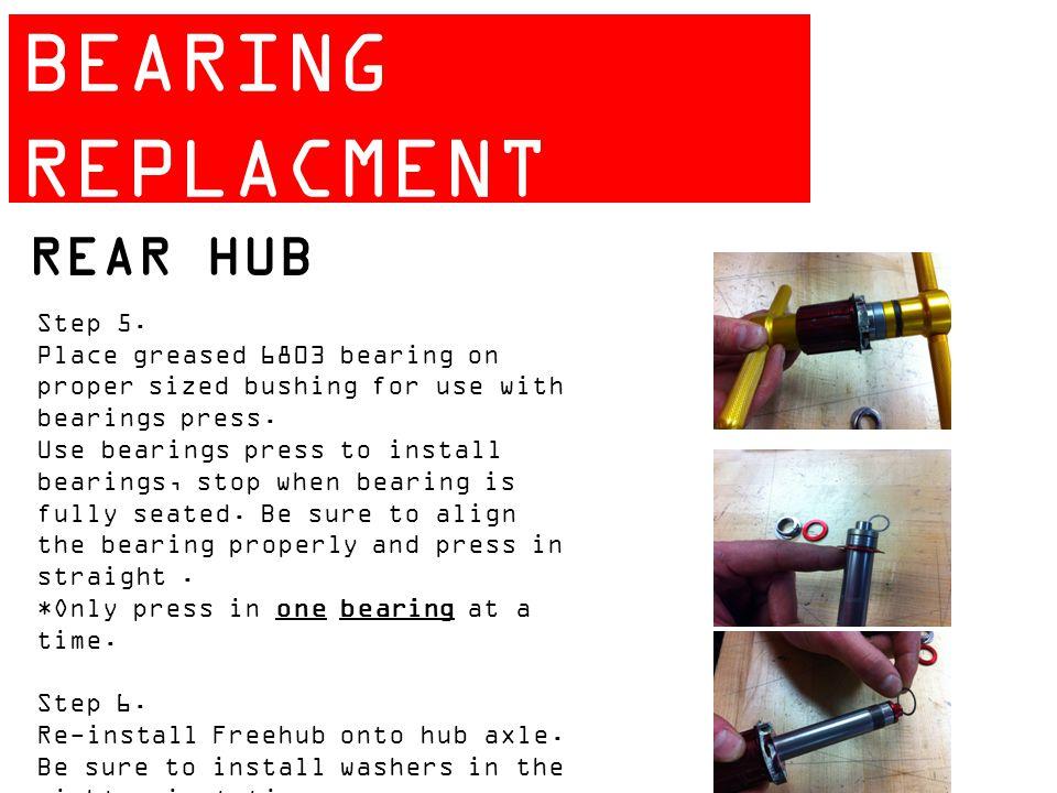 ZIPP 404 BEARING REPLACMENT GUIDE REAR HUB Step 5.