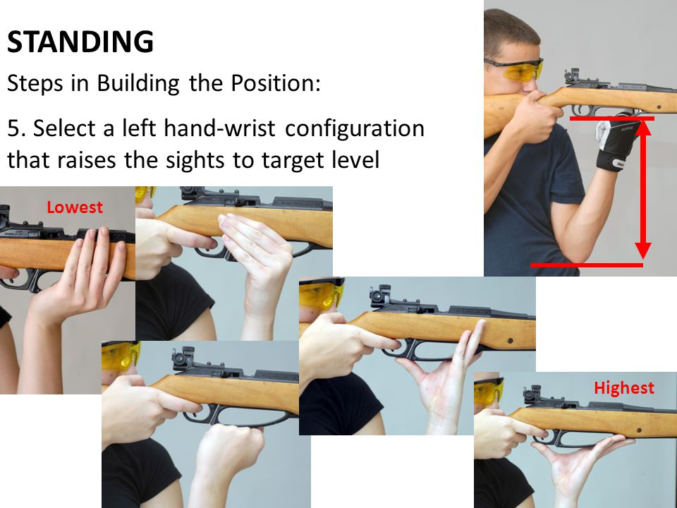 STANDING Steps in Building the Position:
