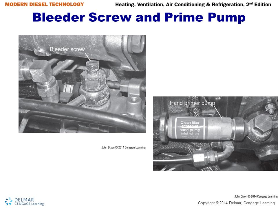 Bleeder Screw and Prime Pump
