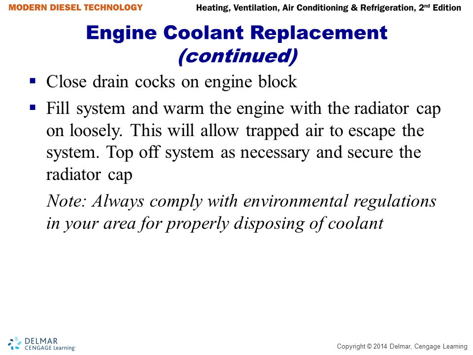 Engine Coolant Replacement (continued)