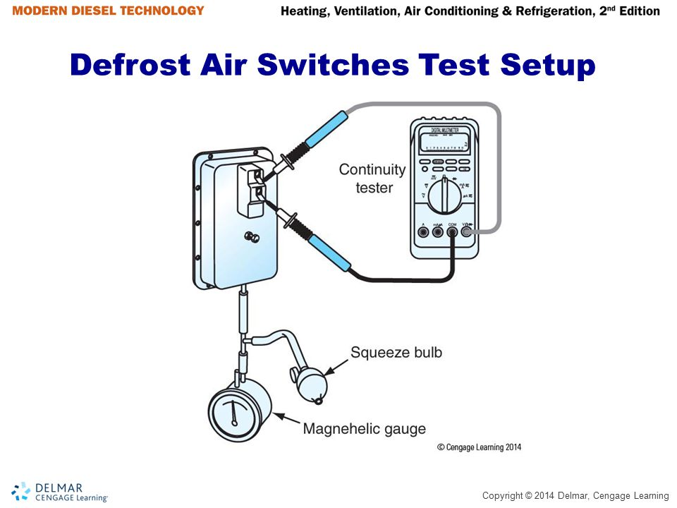 Defrost Air Switches Test Setup
