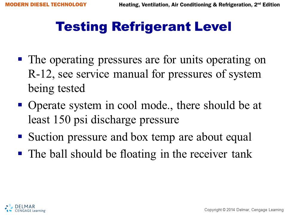 Testing Refrigerant Level