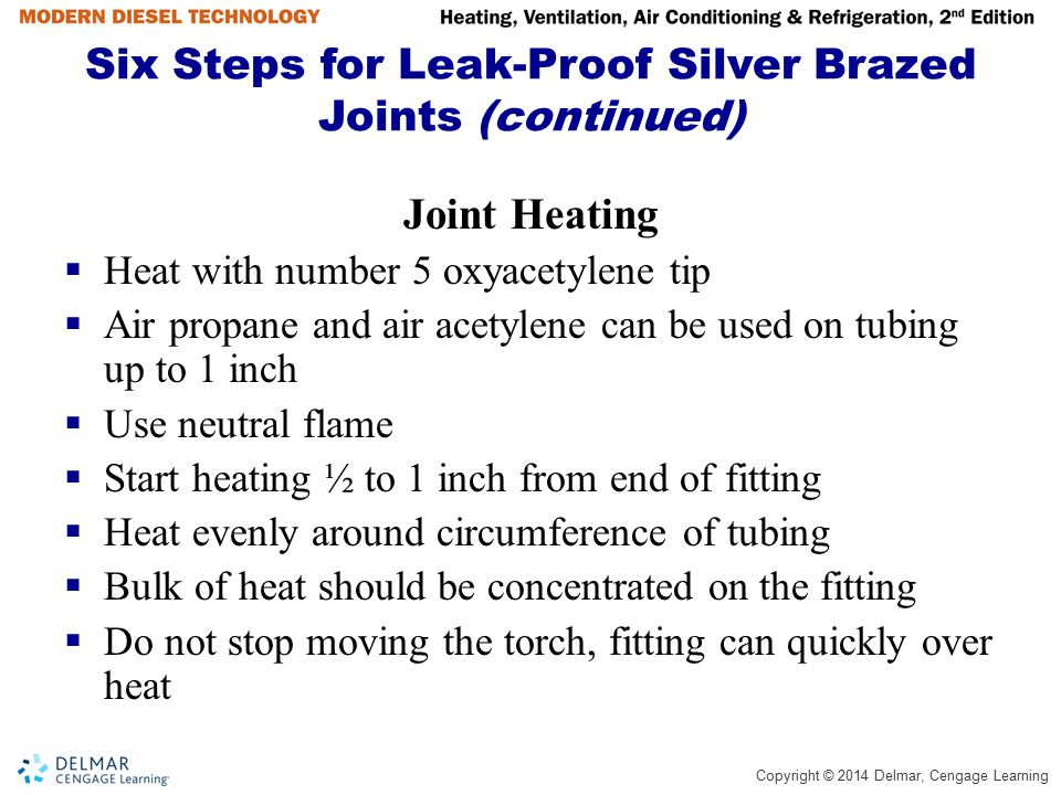 Six Steps for Leak-Proof Silver Brazed Joints (continued)